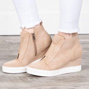 Ccocci Zoey Wedge Sneaker- Oatmeal